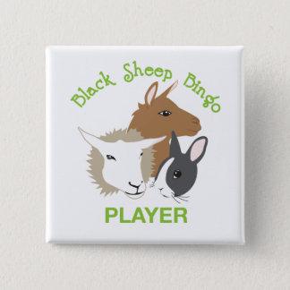 Square Button; Player 2 Inch Square Button