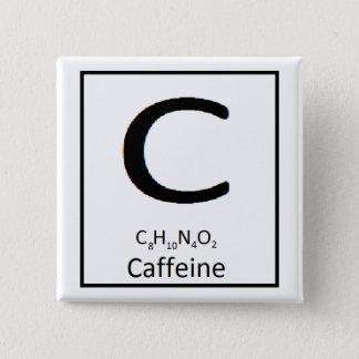 Square caffeine button, 2 in. 2 inch square button