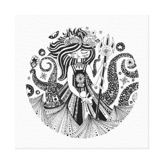 Square Canvas Print Gingerbread Sea Witch