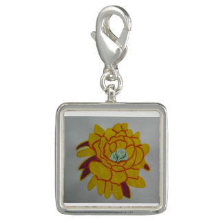 Square Charm, Silver Plated Charm