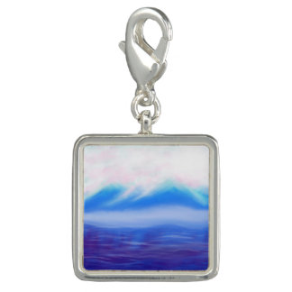 Square Charm, Silver Plated Photo Charm