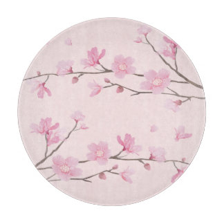 Square- Cherry Blossom - Pink Cutting Board