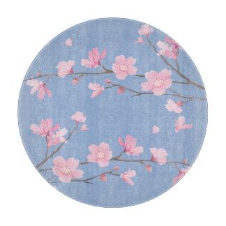 Square- Cherry Blossom - Serenity Blue Boards