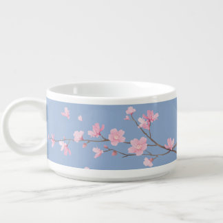 Square- Cherry Blossom - Serenity Blue Bowl