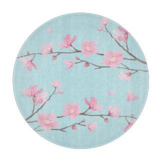Square- Cherry Blossom - Sky Blue Boards
