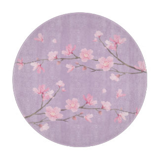 Square- Cherry Blossom - Transparent Background Boards