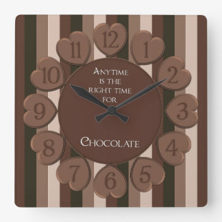 Square Chocolate Wall Clock