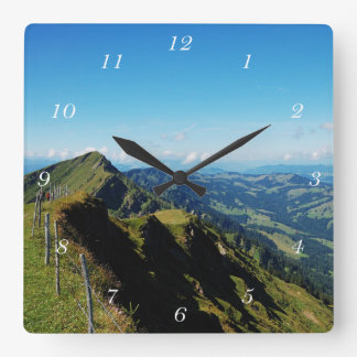 Square clock alps with upper baptism