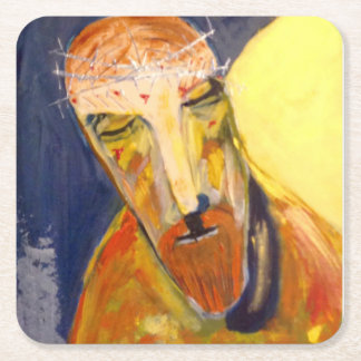square coaster, Jesus Square Paper Coaster