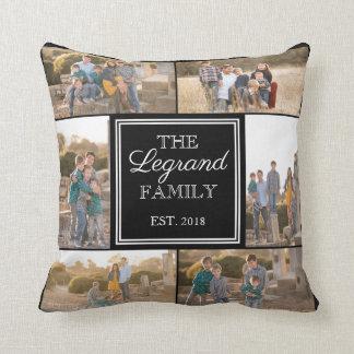 Square Collage Custom Photo Throw Pillow