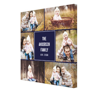 Square Collage Custom Photo Wrapped Canvas Gallery Wrapped Canvas