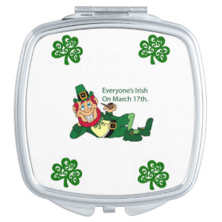 Square Compact Mirror St. Patrick's Day