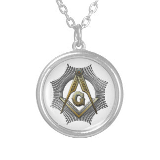 Square & Compass Silver Plated Necklace