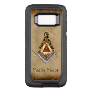 Square & Compass with All Seeing Eye OtterBox Defender Samsung Galaxy S8 Case