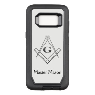 Square & Compass with Inset G - Ombre OtterBox Defender Samsung Galaxy S8 Case