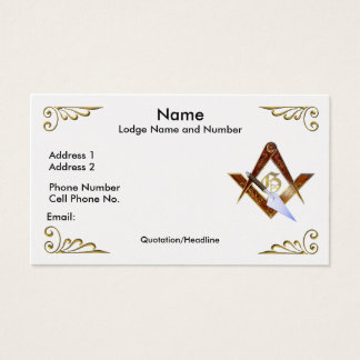 Square, Compasses and Trowel Business/Profile card