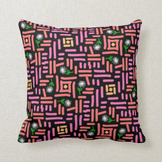 Square cushion Jimette Design of pink with flower