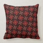 Square cushion Jimette Design red grey and black.