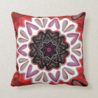Square cushion Jimette red and black Mandala
