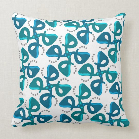Square cushion Jimette turquoise and white Design