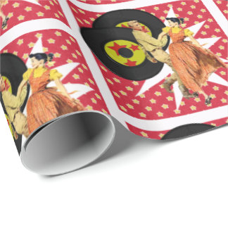 """Square Dance or 50""""s Dancers Gift Wrapping Wrapping Paper"""