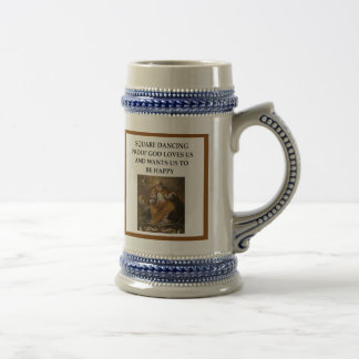 square dancing beer stein