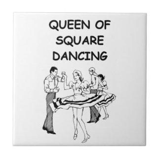 square dancing ceramic tile