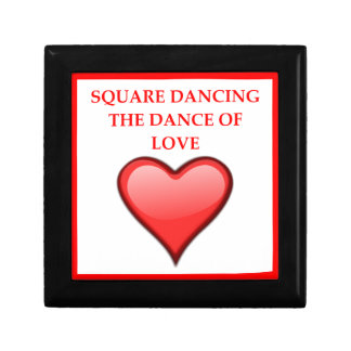 square dancing gift box