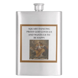 square dancing hip flask