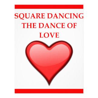 square dancing letterhead