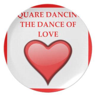 square dancing plates