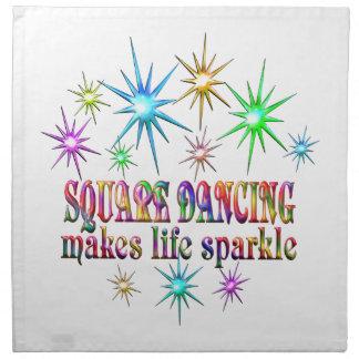 Square Dancing Sparkles Napkin