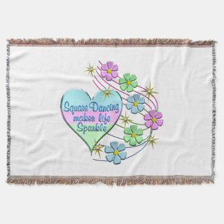 Square Dancing Sparkles Throw Blanket