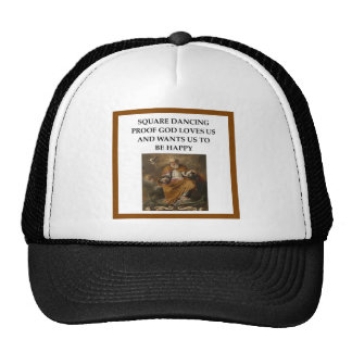 square dancing trucker hat