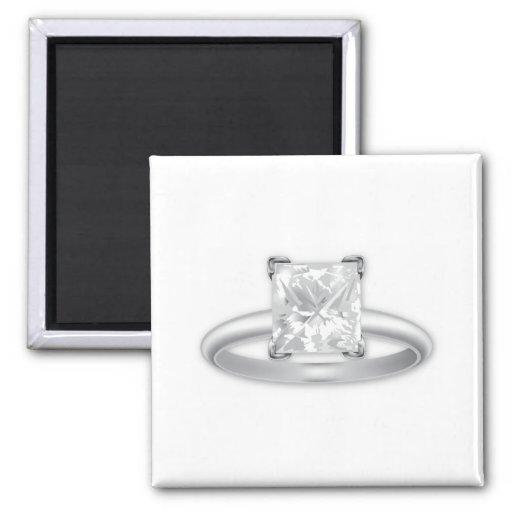 Square Diamond Ring Magnets
