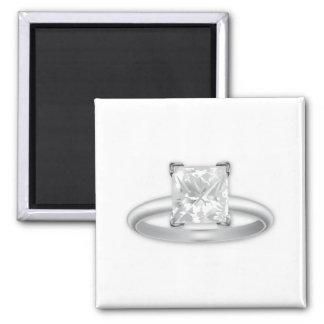 Square Diamond Ring Square Magnet