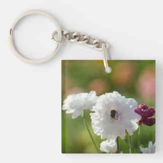 Square (double-sided) Keychain Flower Fields Flwr
