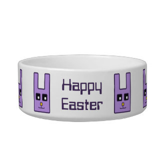 Square Easter Bunny Pet Bowl