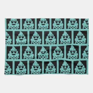 Square Emoji Poop Kitchen Towel