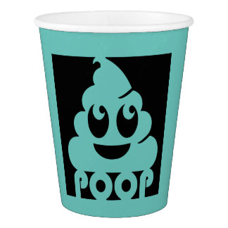 Square Emoji Poop Paper Cup