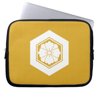 Square flower with Swords in tortoiseshell Laptop Sleeves