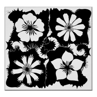 square flowers poster