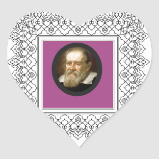 square galileo heart sticker
