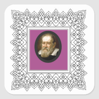 square galileo square sticker