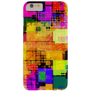 Square Geometric Multicolored Pattern Barely There iPhone 6 Plus Case