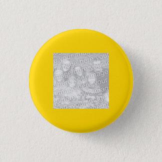 Square Gold Border Photo 1 Inch Round Button