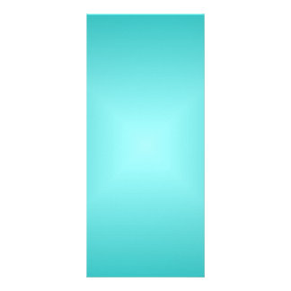 Square Gradient - Turquoise and Light Cyan Full Color Rack Card