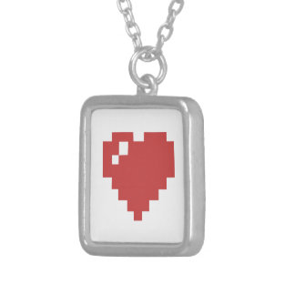 Square Heart Necklace