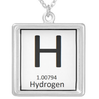 Square Hydrogen necklace