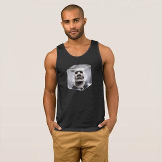 Square Ice Cube Tiki Moai Logo
